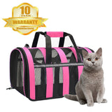 PETDIARY Cat Carrier Portable Pet Carrier-Small Dogs,Puppy, Cats Travel Carrier Soft Sided Tote Bag Purse,Airline Approved, Perfect for Small Animals