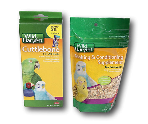 Wild Harvest Parakeet Gift Set - Cuttlebone and Molting Supplement