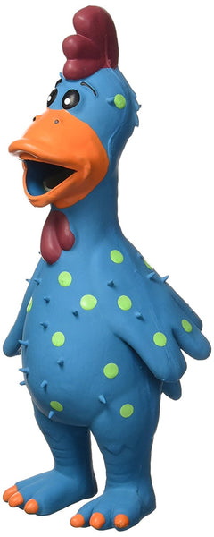 Multipet Latex Chicken Globken Dog Toy Assorted