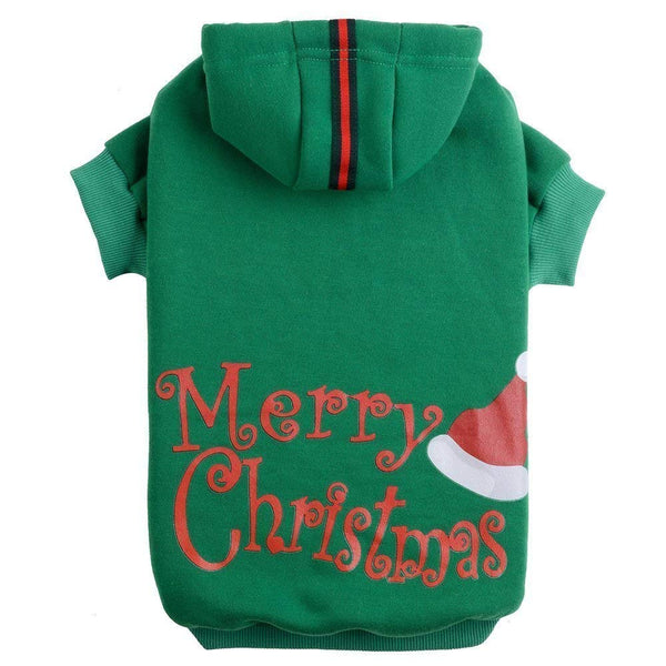 PUPTECK Christmas Dog Hoodie Sweater - Cute Shirt Pet Sweatshirt Puppy Clothes Printed Style