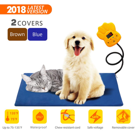 Tonha Pet Heating Pad | Indoor Electric Warmer for Dogs, Cats, Animals | Whelping Box, Heated Bed, Warming Mat | with Chew Resistant Cord, Replaceable