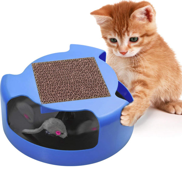 Cat Toys Interactive Kitten Toy - Best for Kitty Cats Supplies - Pet Mouse Play w/ Scratching Post Furniture Scratcher Cardboard Exercise Accessories