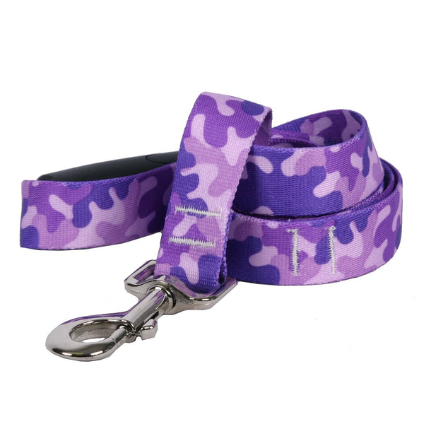 Yellow Dog Design Camo Purple Dog Leash