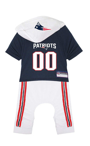 NFL Dog Onesie. New Cute Pajama Outfit for Dogs & Cats. Licensed Pet Costume. 32 Football Teams, 5