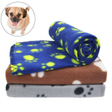 AK KYC 3 Pack Puppy Blanket Cushion Dog Cat Fleece Blankets Pet Sleep Mat Pad Bed Cover Paw Print Kitten Soft Warm Blanket Animals