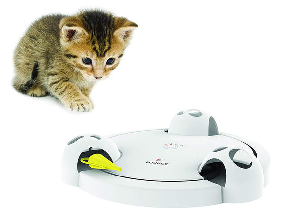 PetSafe Pounce Cat Toy, Interactive Automatic Toy for Cat or Kitten, Adjustable Electronic Battery Operated Toy