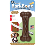 Pet Qwerks Flavorit BarkBone Mesquite Chicken Dog Chew Toy for Aggressive Chewers, Made in USA