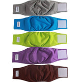 vecomfy Belly Bands for Male Dogs(5 Pack),Premium Washable Reusable Small Dog Belly Wrap Leakproof Puppy Diapers