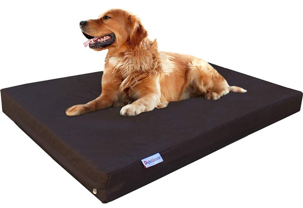 Dogbed4less Orthopedic Memory Foam Dog Bed for Small to Extra Large Pet, Waterproof Liner with Heavy Duty 1680 Nylon External Cover and Bonus Replacem