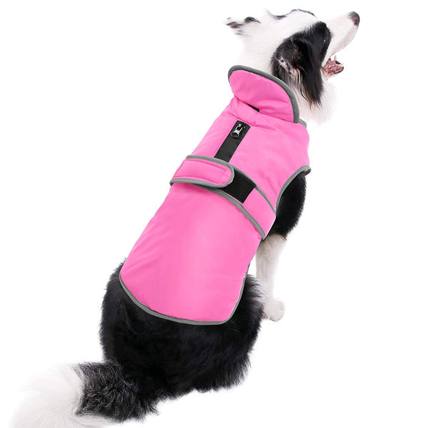 MIGOHI Reflective Waterproof Windproof Dog Coat Cold Weather Warm Dog Jacket Reversible Stormguard Design Winter Dog Vest for Small Medium Large Dogs