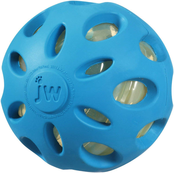 JW Pet Company Crackle Heads Crackle Ball Dog Toy, Large, all Colors