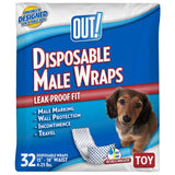 OUT! Disposable Male Dog Diapers | Ultra-Absorbent, Leak-Proof Disposable Wraps