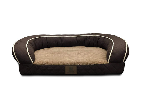 American Kennel Club AKC Sweet Dreams Jumbo Quilted Orthopedic Pet Sofa Couch Bed with Bolster Sides, Machine Washable, Ideal for Larger Breeds