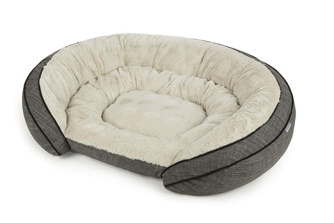 Sterling Premium Cooling Gel Memory Foam Pet Bed, Plush with Woven Linen