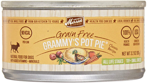 Merrick Pet Care 295458 24-Pack Classic Small Breed Grammys Pot Pie For Pets, 3.2-Ounce