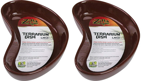 (2 Pack) Zilla Terranium Dish, Large, Colors Vary