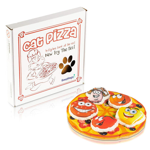 Easyology Cat Toys Interactive Pizza: The ONLY Cat Toy Served in a Pizza Box – Best Cat Toys Fun Cat Teaser - Best Kitten Toys Gifts - Catnip To