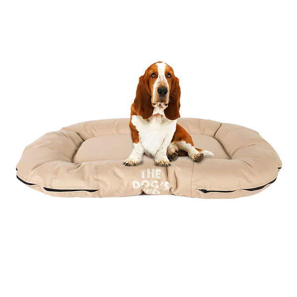 The Dog's Bed, Premium Water Resistant Dog Bed, M to XXL Quality Oxford Fabric, Removable Washable Cover, Dog Beds Home Car Crate & Outside, Pup