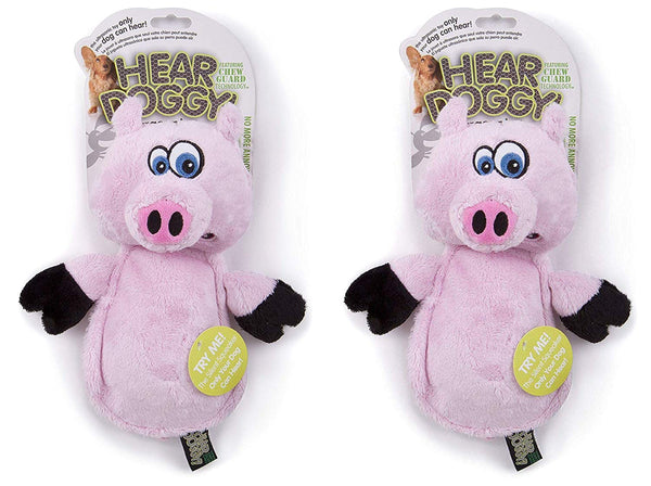 Hear Doggy Flatties with Chew Guard Technology Dog Toy, Pig