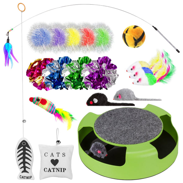 Simply-Me Cat Toys, 20 Pieces Interactive Toys Gift Set for Cats