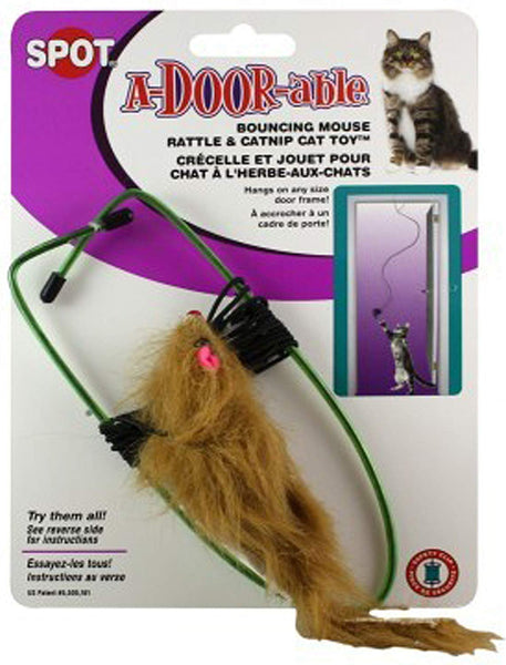 SPOT A-Door-Able Bouncing Mouse Cat Toy