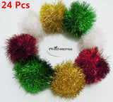 PetFavorites™ Bushy Sparkle Ball Cat Toy, Interactive Glitter Pom Pom Cat Toy Balls for Kittens, Bulk Pack.
