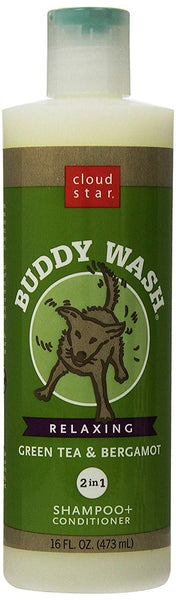 Cloud Star Buddy Wash Dog Shampoo- Green Tea And Bergamot, 16-Ounce Bottles (Pack Of 3)
