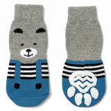 Pet Heroic Anti-Slip Knit Dog Socks&Cat Socks Rubber Reinforcement, Anti-Slip Knit Dog Paw Protector&Cat Paw Protector Indoor Wear, Suitable Small&Med