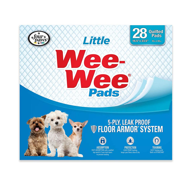 WEE-WEE Four Paws Products Housebreaking Pads for Little Dogs