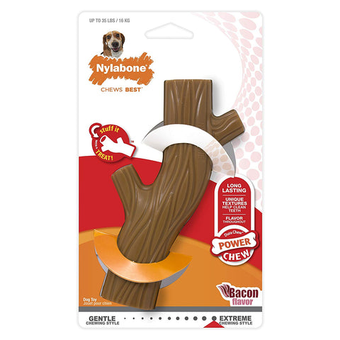 Nylabone Dura Chew Hollow Stick, Bacon Flavor