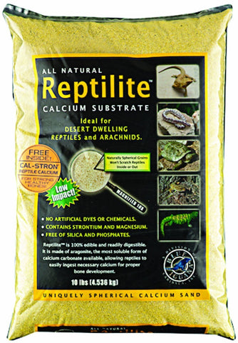 Carib Sea SCS10731 4-Pack Reptiles Calcium Substrate Sand, 10-Pound, Sunshine Yellow
