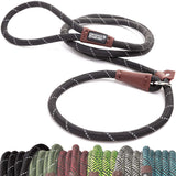 Friends Forever Extremely Durable Dog Slip Rope Leash, Premium Quality Mountain Climbing Rope Lead, Strong, Sturdy Comfortable Leash Supports The Stro