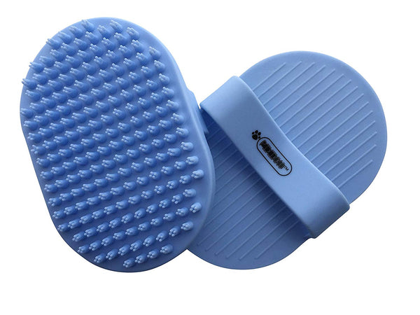 Pixikko Pet Curry Shampoo Brush/Comb for Bathing - Massaging - Deshedding - on Wet or Dry Hair 1-PC