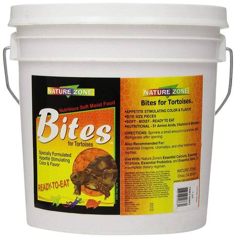 Nature Zone Trb3-54663 Total Bites Soft Moist Food For Tortoise, 1 Gallon