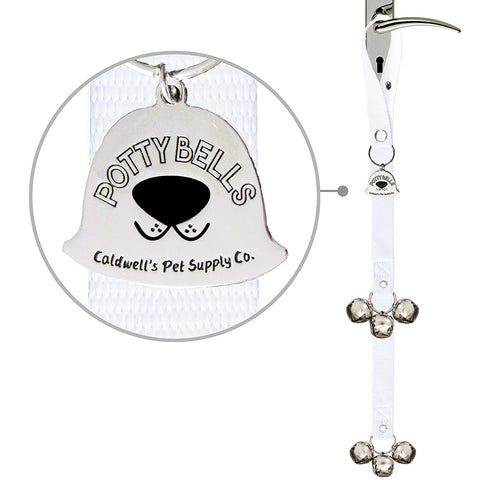 Caldwell's Pet Supply Co. Potty Bells Housetraining Dog Doorbells for Dog Training and Housebreaking Your Doggy. 1.4 Inch Dog Bell with Doggie Doorbel