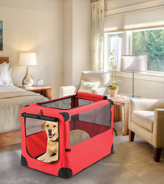 Giant Portable Pet House Crate - Red