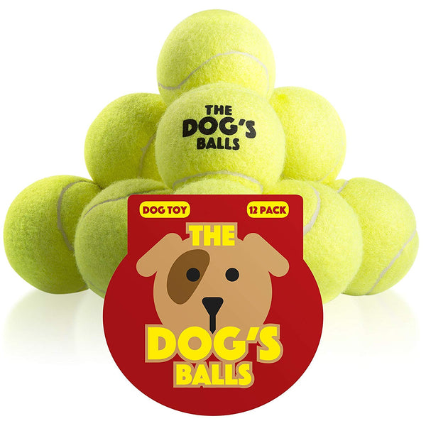 The Dog's Balls Premium Quality Dog Tennis Balls & Rubber Balls for Puppy Training, Play, Exercise & Fetch, Fits Chuckit Launchers, Bouncy Dog Balls T