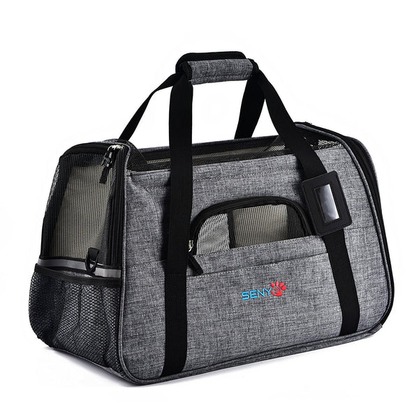SENYEPETS Soft-Sided Pet Travel Carrier with Mesh Windows and Fleece Padding for Small Dogs and Cats