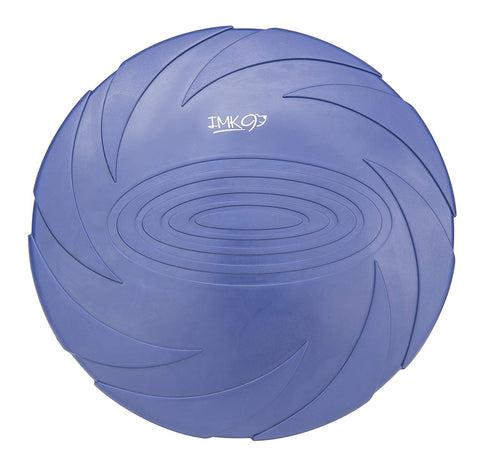 IMK9 Dog Frisbee Toy - for Small, Medium, or Large Dogs - Soft Natural Rubber Disk for Safety - Best Color Toys for Dogs to See - Heavy Duty, Aerodyna