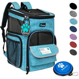 PetAmi Pet Carrier Backpack for Small Cats, Dogs, Puppies | Ventilated Structured Frame, 4 Way Entry, Safety and Soft Cushion Back Support | Collapsib