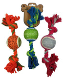 Greenbone Tennis Ball Knot Rope Pet Training Pull and Play Toy for Dogs