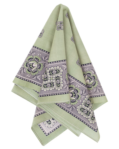The Two Ears Brand Liberty Bandanna, Verte