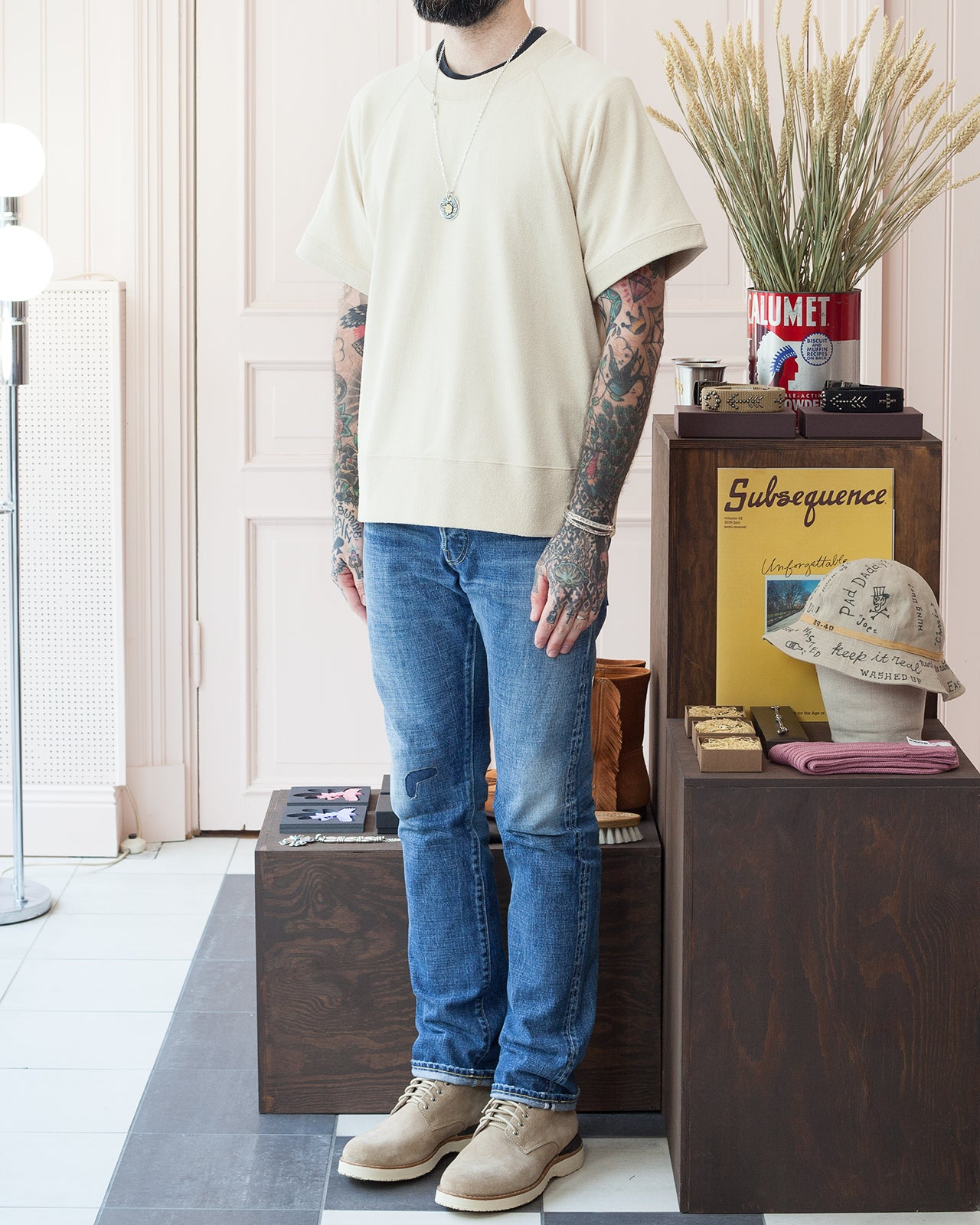 Beaugan Sweatshirt, Short Sleeve Visvim Jeans