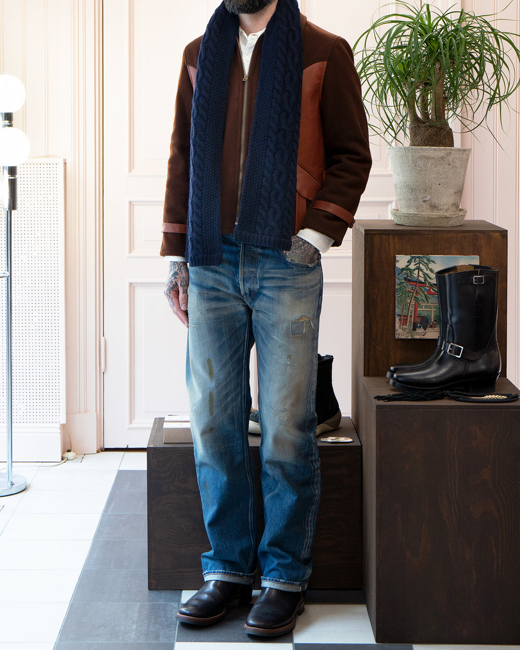 By Glad Hand Island Knit Scarf, Navy