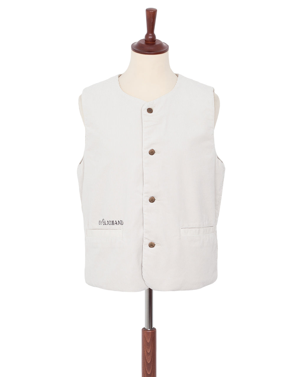 By Glad Hand, Brother Union, Corduroy Vest, White