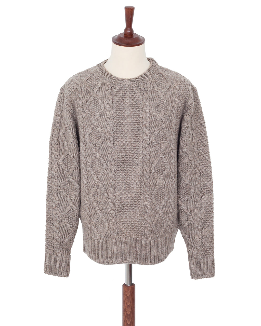 By Glad Hand, Islands, Wool Crew Neck Sweater, Grey