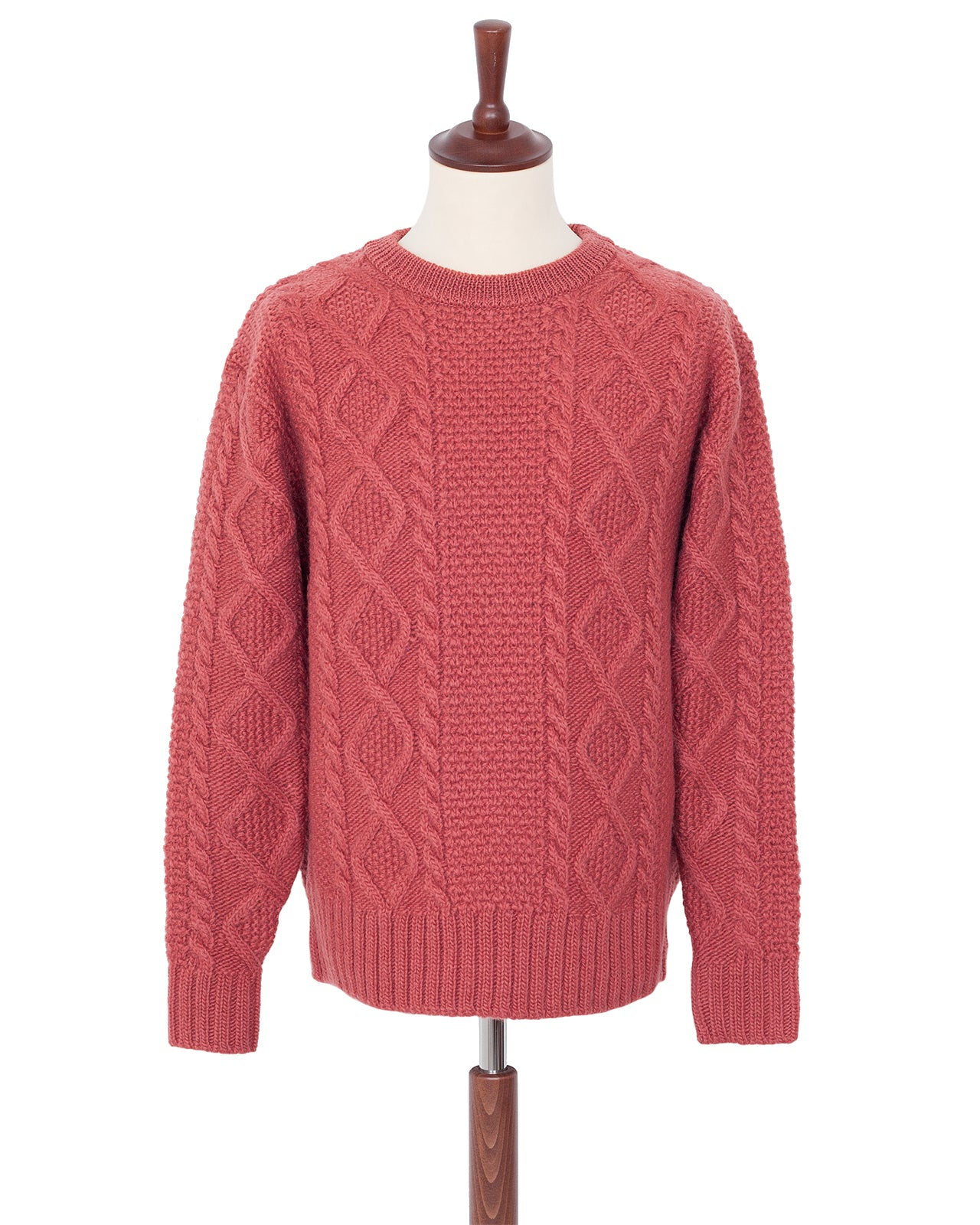 By Glad Hand, Islands, Wool Crew Neck Sweater, Pink