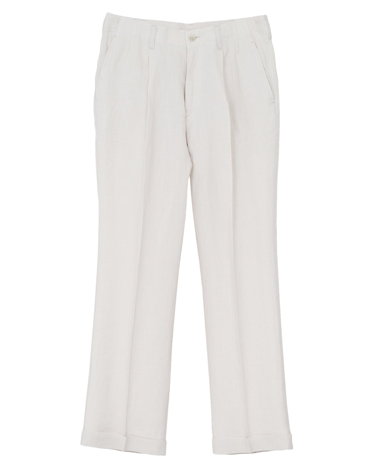 By Glad Hand, Linen Trousers, Ivory