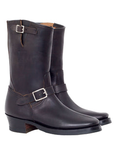 Clinch Engineer Boots, CN Soft Toe, Horse Butt, Overdye Black
