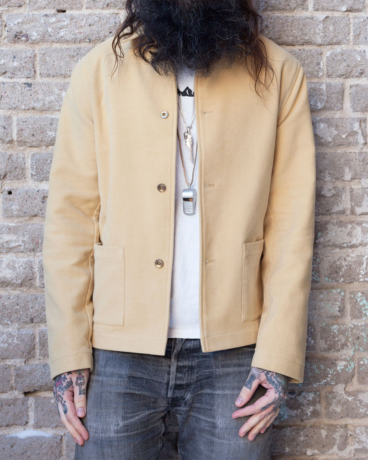 Indigofera Corbett Jacket, Heavy Cotton Moleskin, Golden Sand